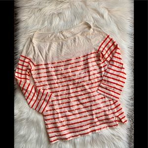 J.Crew Sequin Striped Top